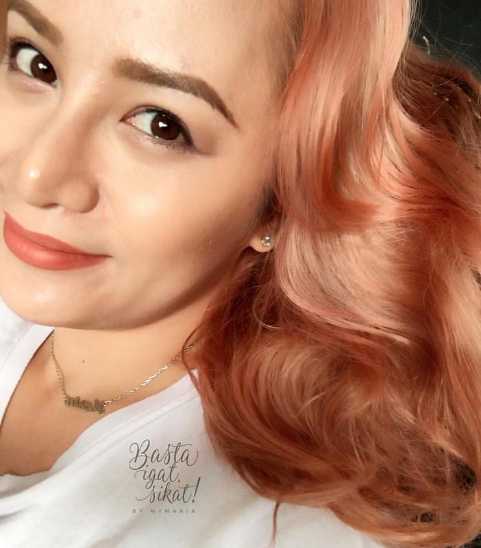 Sparks Rose Gold hair with Panasonic Nanoe hair straightener review