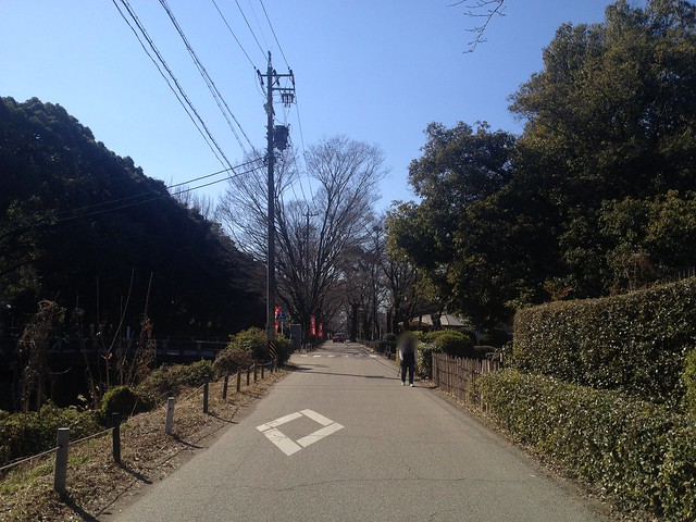 金華山 岐阜公園第3駐車場からめい想の小径への道