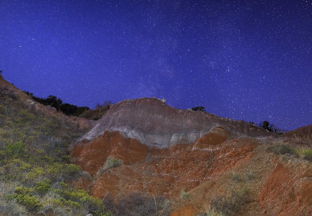 Palo Duro Night The Half Moon Light And Starry Sky Were