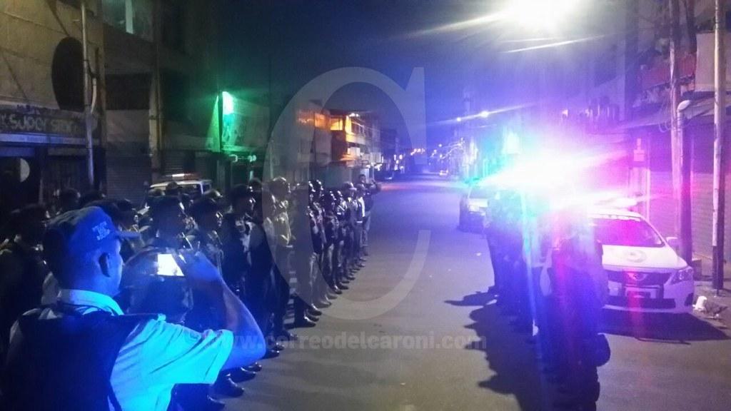 Despliegue policial en el centro de San Félix y Puerto Ordaz