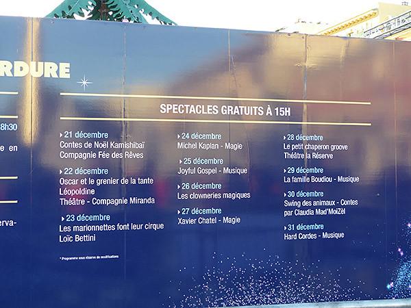 spectacles de noël à Nice