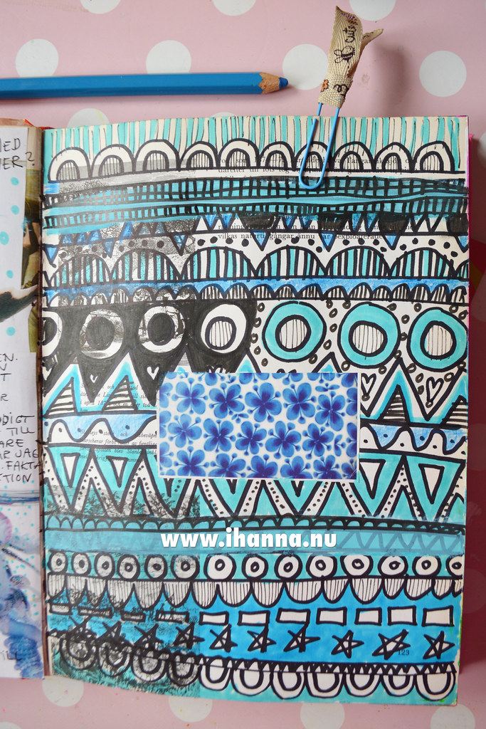 Art Journal | Doodle row of patterns by iHanna