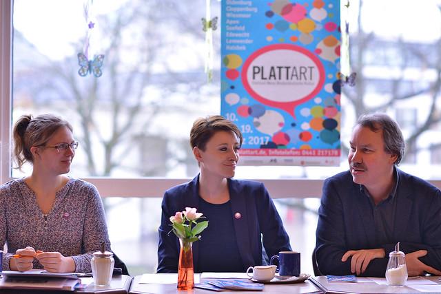 PLATTart Pressekonferenz im Café Leutbecher