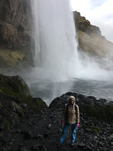Me and a waterfall in Iceland