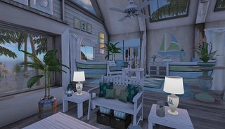 Perfect Ten, Tylar's Treasure Key West Living Room Full | by Hidden Gems in Second Life (Interior Designer)