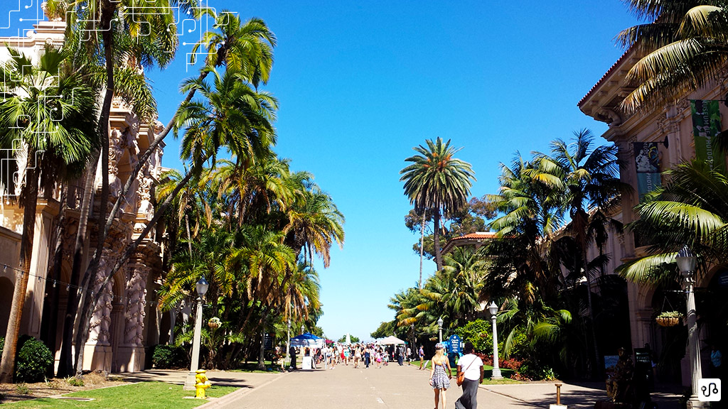 Trecho do Balboa Park em San Diego em um dos passeios oferecidos pelo American Language Program