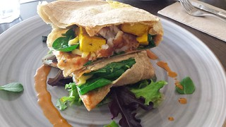 GF Hash Brown Wrap at Little River Cafe