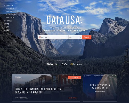 7. Commecial or Biz project - GOLD winner - Data USA by Datawheel, Deloitte and Macro Connections