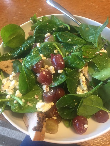 Great salad with leftovers