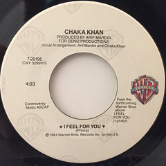 CHAKA KHAN:I FEEL FOR YOU(LABEL SIDE-A)