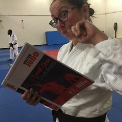 Last minute judo exam swotting in my fab @valor_fightwear gi. Judo gi but bjj everyday 😉