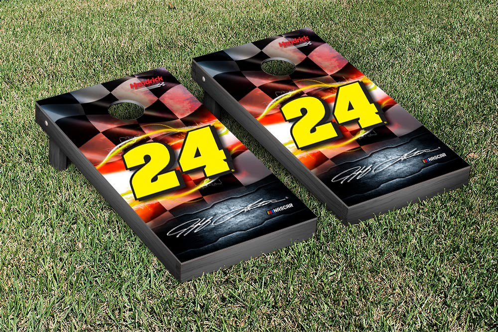 JEFF GORDON #24EVER CORNHOLE GAME SET NIGHT LIGHTS VERSION (1) (38398)