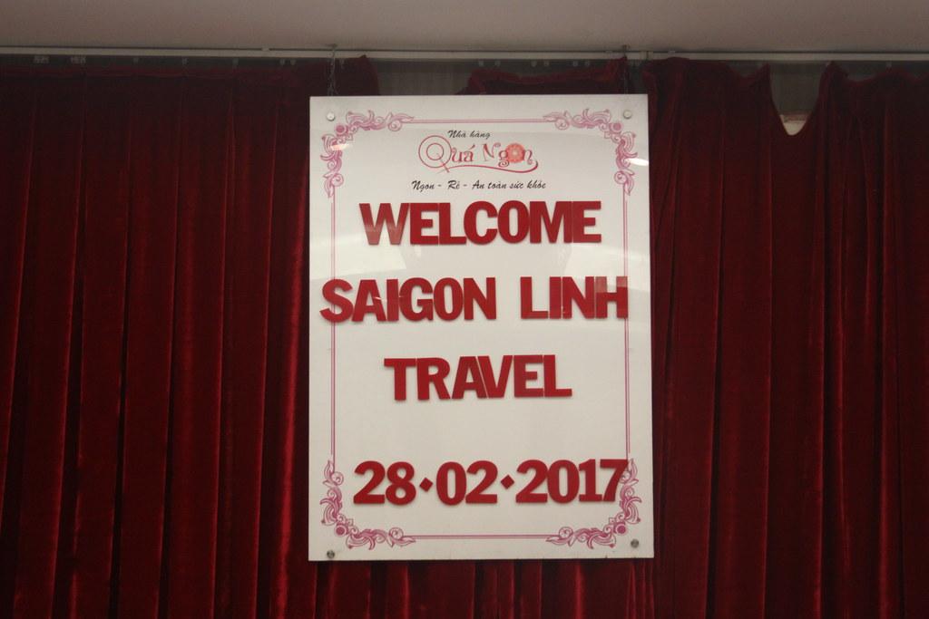 Tiệc đón khách đoàn Sài Gòn Linh Travel