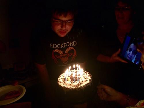 Birthday Cake Blowing Up