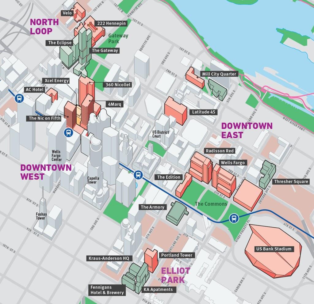 downtown minneapolis development map real estate developme flickr