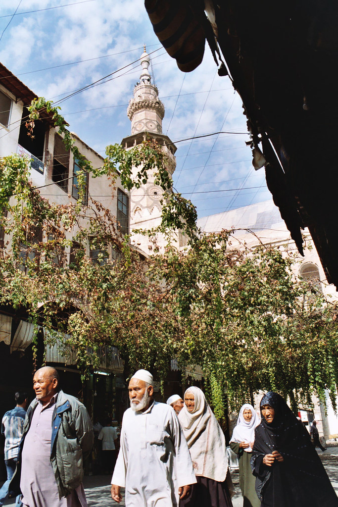 The narrow streets of Damascus