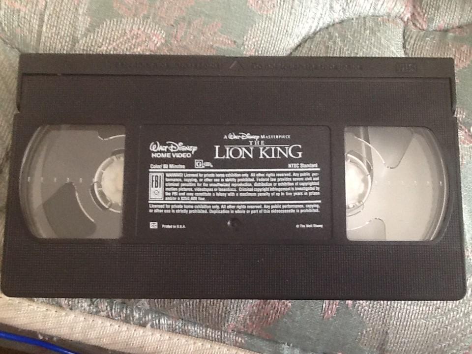 the lion king  1995 vhs  videotape