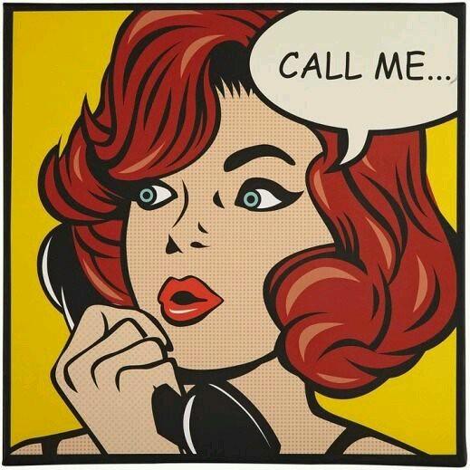 Art Of Comics And Manga: '' Call Me '' / POP ART