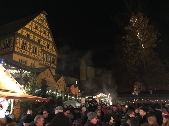 Mercado navideño de Dinkelsbuhl (Norte de Baviera, Alemania)