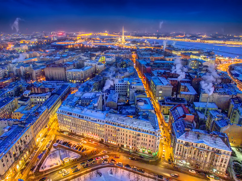 St.Petersburg evening cityview