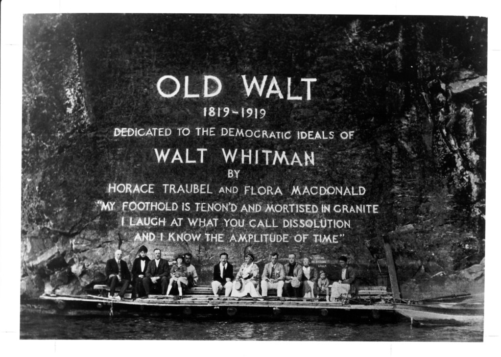 walt whitman inscription on mazinaw rock bon echo flickr