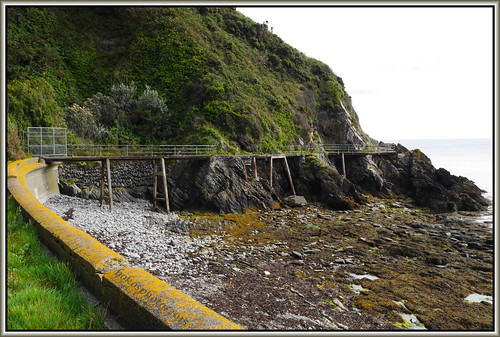 The walk way around the cliffs now closed | by bokosphotos
