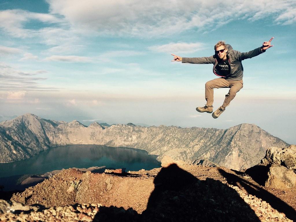 David Leuliette Volcano hiking – Rinjani - Lombok island