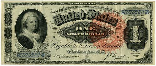 Martha washington on Silver Certificate