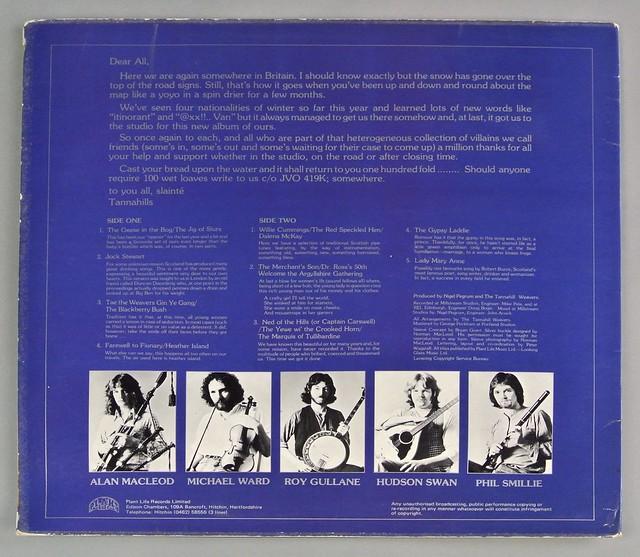 "TANNAHILL WEAVERS S/T SELF-TITLED 12"" LP VINYL"