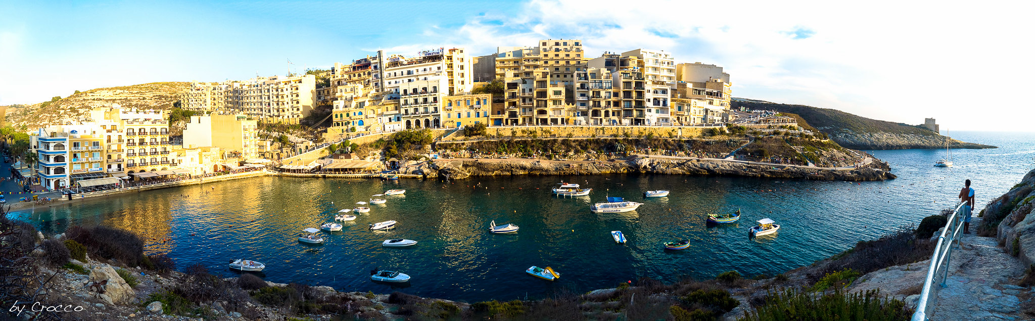Xlendi Bay Panorama