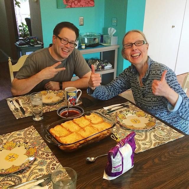 Joy over Monte Cristo breakfast casserole YUM (thanks @dubtrance for the inspiration).