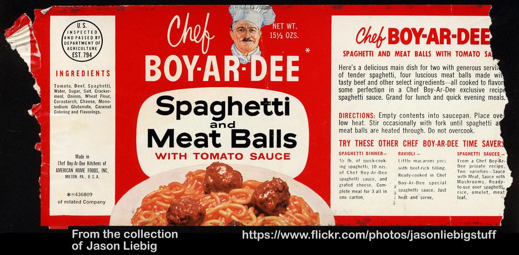 Chef Boy Ar Dee Spaghetti And Meat Balls 15 1 2 Oz Can F