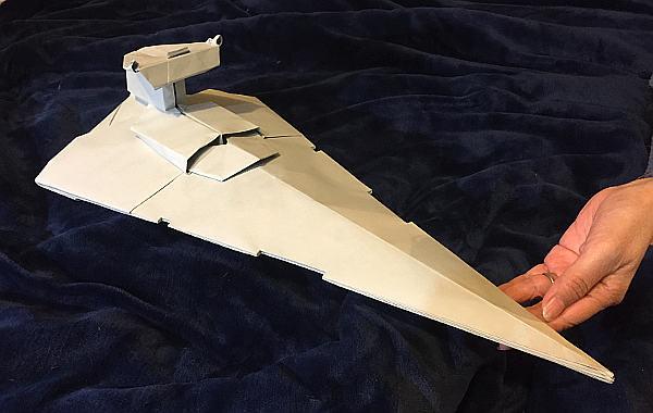 Gigantic Star destroyer origami real angled version 65cm l ... - photo#23