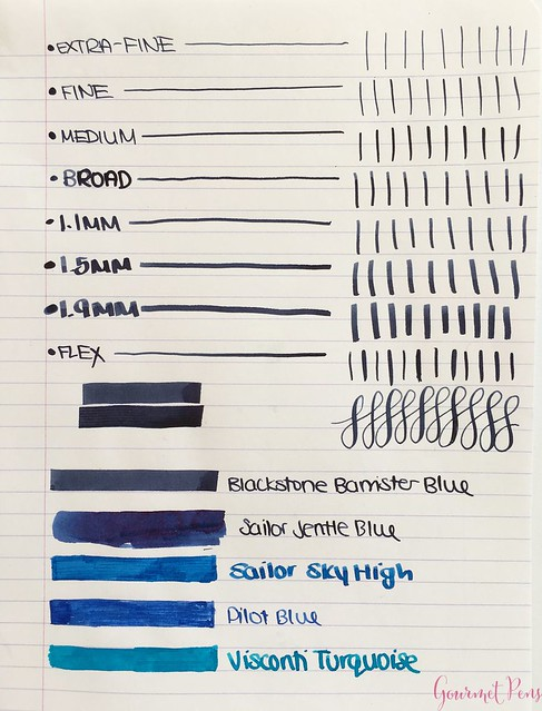 Ink Shot Review Blackstone Barrister Blue @AppelboomLaren3