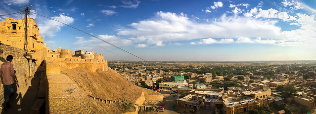 Panoramic view from Jaisalmer Fort, India ジャイサルメール、フォートからの眺め