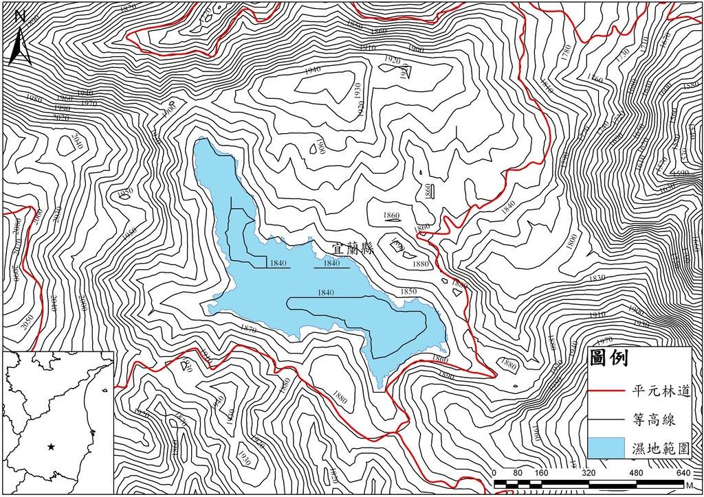 翠峰湖地形圖