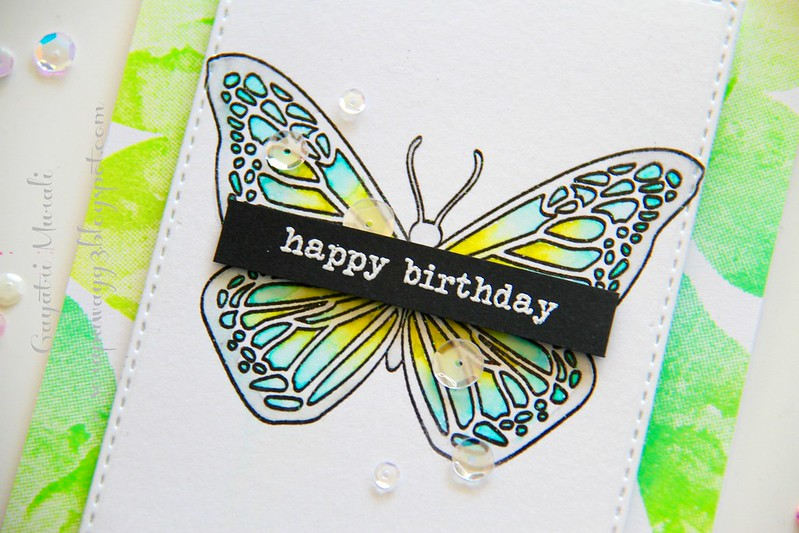Butterfly card 2 closeup