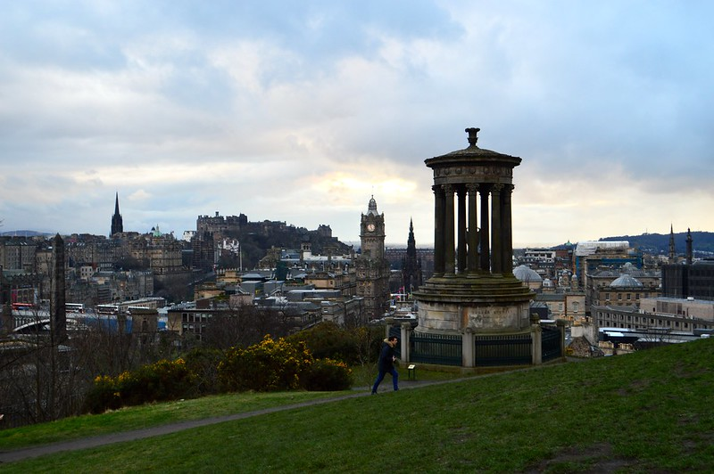 This is a photo of the Edinburgh skyline taken from Calton Hill