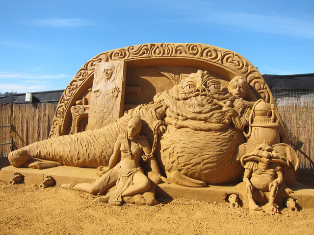 Star Wars Jabba's Palace Sand Sculpture