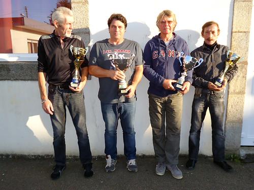 19/09/2015 - Saint Martin des Champs : Les finalistes du concours de boules plombées en doublettes formées
