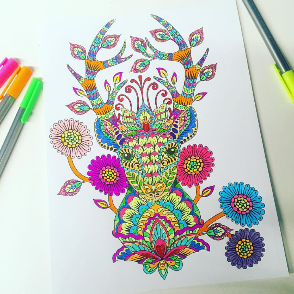 The tula pink coloring book -  Tulapink Tulatroops Love Tula Pink S Coloring Book Deer Me From Moonshine Tulapink Tulatroops