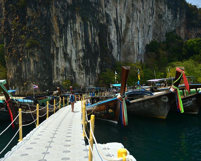 Embarcadero de la isla de Koh Hong