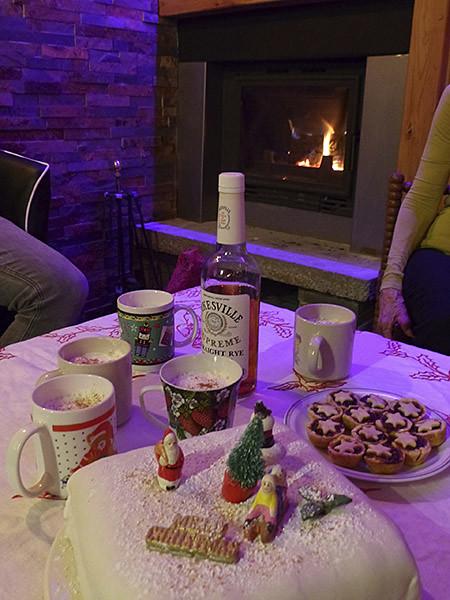 goûter de Noël au coin du feu