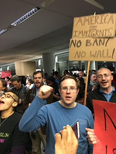 2017/01/28 SFO Airport #NoBan #NoWall #RefugeesWelcome Protest