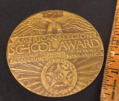 American Legion School Award Medal reverse