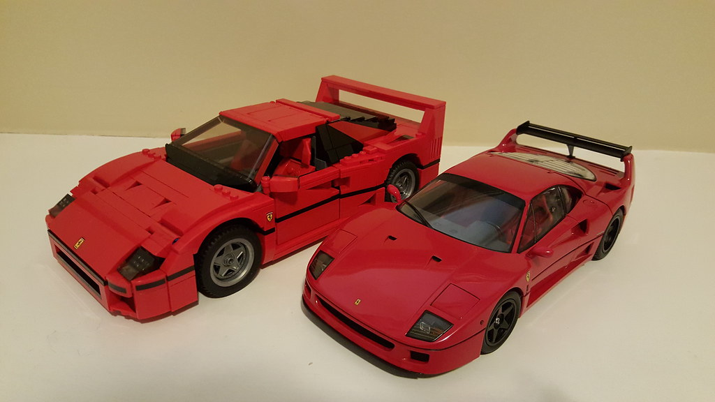 lego ferrari f40 10248 1 18 kyosho ferrari f40 lm wing flickr. Black Bedroom Furniture Sets. Home Design Ideas