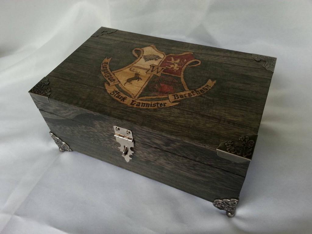 Game of Thrones woodburned keepsake box by Kathleen Kaderabek