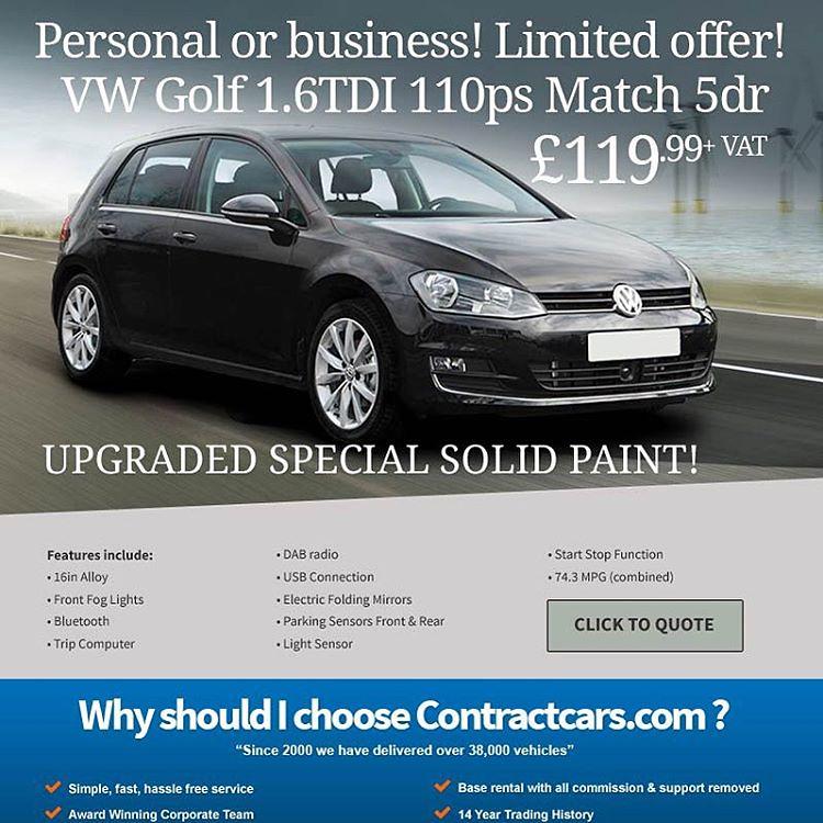 VW Golf 1 6TDI 110ps Match 5dr £119 99 +VAT Call Now 0161 … | Flickr