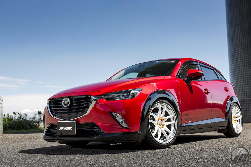 JUNACK <b>Mazda CX3</b> on WORK Emotion CR2P | F:19x8.5J +35mm (A ...