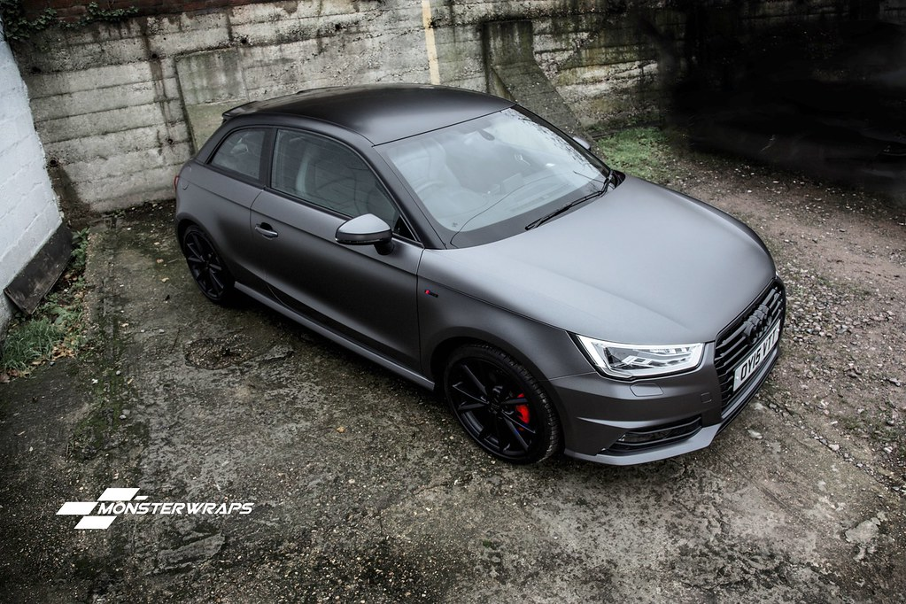 Audi A1 Satin Grey Black Full Wrap Full Wrap From Red To